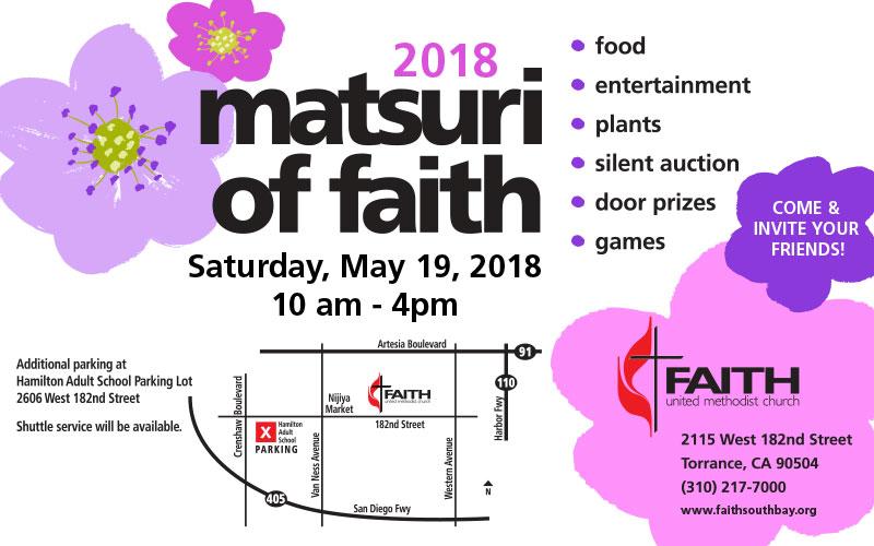 Matsuri of Faith event flyer