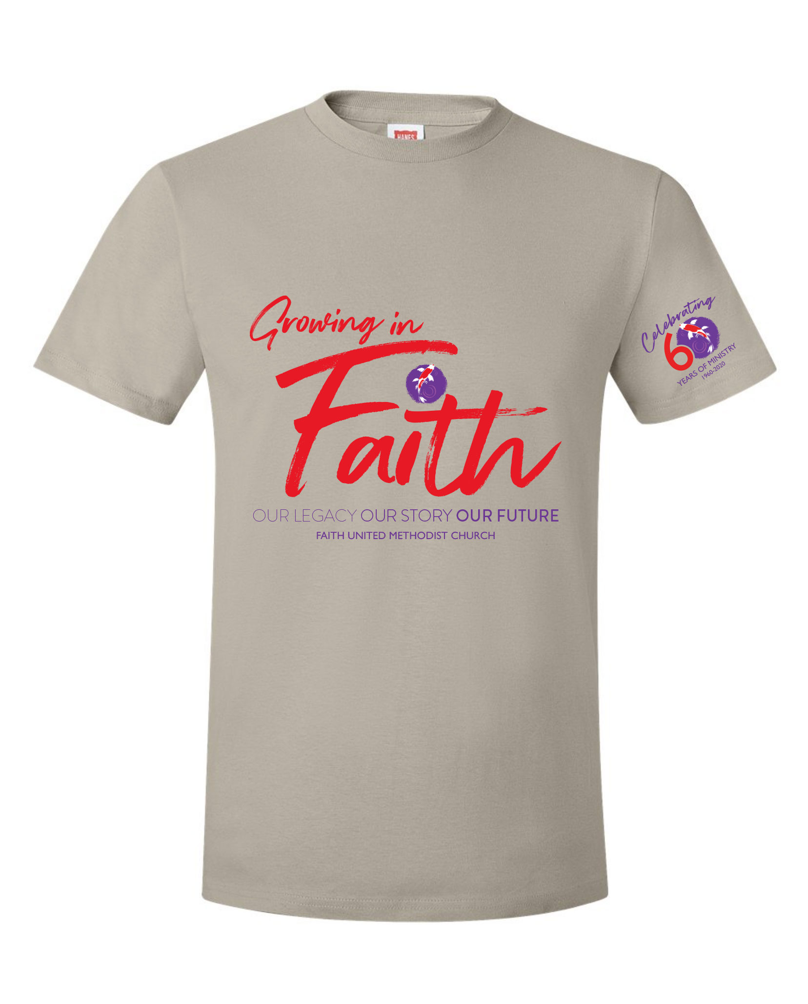 Faith UMC 60th Anniversary Commemorative Shirt